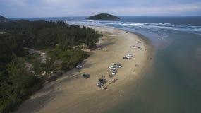 Genießen des Strandes Stockbilder