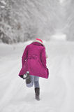 Genießen des Winters Stockfoto
