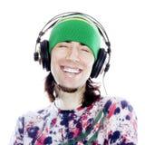 Genießen seiner Musik Lizenzfreie Stockbilder