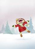 Genießen Sie den Schnee!! lizenzfreie abbildung
