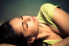 Genießen Sie in der Sommersonne Stockbilder