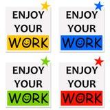 Genießen Sie Ihre Arbeit stock abbildung