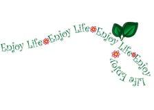 Genießen Sie Leben-Blumen-Rebe-Vektor Lizenzfreie Stockbilder