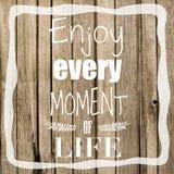 Genießen Sie Leben-Zitat Stockfotos