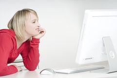 Genießen Sie mit Computer Stockbilder