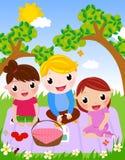 Genießen Sie Picknick und glückliche Tage Lizenzfreies Stockfoto