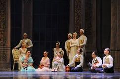 Genießen Sie ruhig den Tanz des Publikum-D Ballett-Nussknackers stockbilder