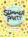 Genießen Sie Sommerfestplakat Lizenzfreies Stockbild