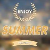 Genießen Sie Sommervektortypographie Stockbild