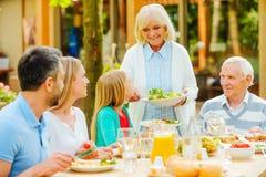 Genießen von Familienzeit Lizenzfreies Stockfoto