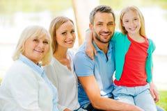 Genießen von Zeit mit Familie Stockbilder
