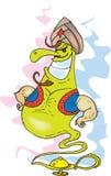 Genie. Funny big genie color vector Royalty Free Stock Photos