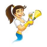 Genie Cleaner Female Stock Image