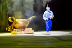 Genie coming out of Magic Lamp Royalty Free Stock Image