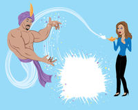 Genie Granting Wish Royalty Free Stock Images