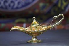 Genie Lamp. With khyamia fabrics Stock Photos