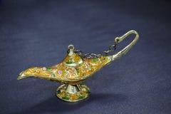 Genie Lamp. With khyamia fabrics Stock Photo