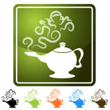 Genie Lamp. An image of a genie lamp icon set stock illustration