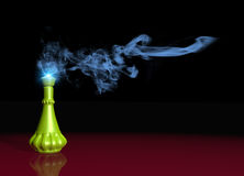 Genie lamp and smoke Stock Image