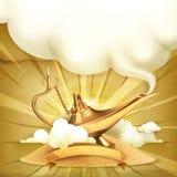 Genie lamp vector illustration. Genie lamp, vector illustration background vector illustration