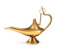 Genie lamp, vector illustration Stock Photo