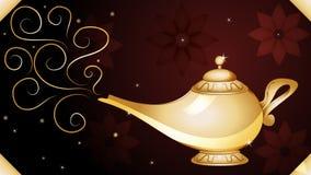 Genie Lamp Wallpaper magica illustrazione di stock