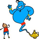 Genie and the Lamp Royalty Free Stock Image