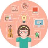Genie-Mädchen-Konzept Stockfotos
