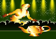 Genie poster Royalty Free Stock Images