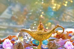 Genie's treasure dreams Royalty Free Stock Image