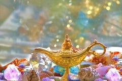Genie's treasure dreams Royalty Free Stock Image