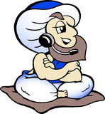 Genie speaking in headset Stock Images
