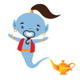Genie vector illustration royalty free stock photos