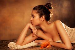 Genießen Sie im Badekurort Lizenzfreies Stockbild