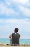 Genießen Sie tropischen Strand Stockbilder
