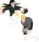 Genies dell'ufficio del fumetto Immagine Stock Libera da Diritti