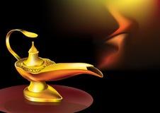 Genies lamp vector illustration
