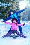 Geniet de winter van dag royalty-vrije stock foto's