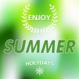 Geniet de zomer van vectortypografie Royalty-vrije Stock Afbeelding