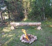 Geniet het kamperen van meest outwest Alberta kroonland stock afbeelding