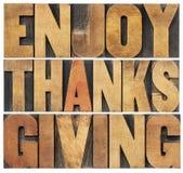 Geniet van Dankzegging Stock Foto's