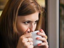 Geniet van Koffie royalty-vrije stock foto