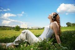 Geniet van muziek! Stock Foto