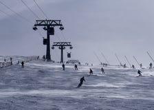 Geniet van ski?end Stock Afbeeldingen