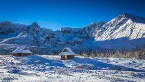 Geniet van uw de wintertijd in bergen Royalty-vrije Stock Afbeelding