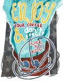 Geniet van uw koffie Royalty-vrije Stock Foto's