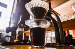 Geniet van uw koffie stock foto's