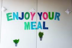 Geniet van uw lunch royalty-vrije stock afbeeldingen