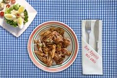 Geniet van uw maaltijd Stock Fotografie