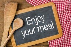Geniet van uw maaltijd Stock Foto